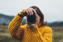 Photographer Girl Take Photo O...