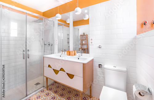 Young and trendy interior design Wallpaper Mural