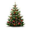 canvas print picture - Glänzend Dekorierter Weihnachtsbaum mit Weihnachtskugeln