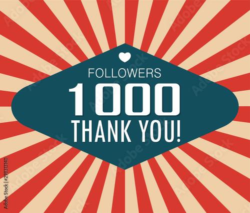 Thanks for the first 1000 followers banner Tapéta, Fotótapéta