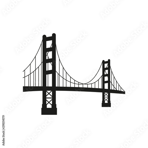 Fotografía Vector golden gate bridge