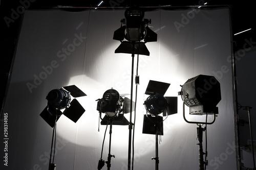Aluminium Prints Light, shadow Lighting Equipment in Studio