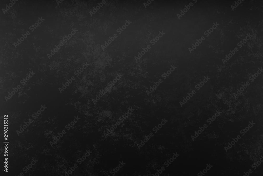 Fototapety, obrazy: Photo studio portrait background. Painted scratch texture dark black, gray. 3D rendering
