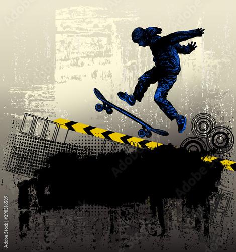 Skateboarding. Extreme sports background