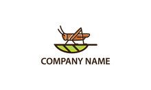 Grasshopper And Leaf Logo Desi...