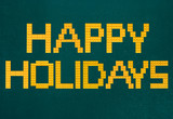 Fototapeta Sport - Happy Holidays Bricks Toys Background