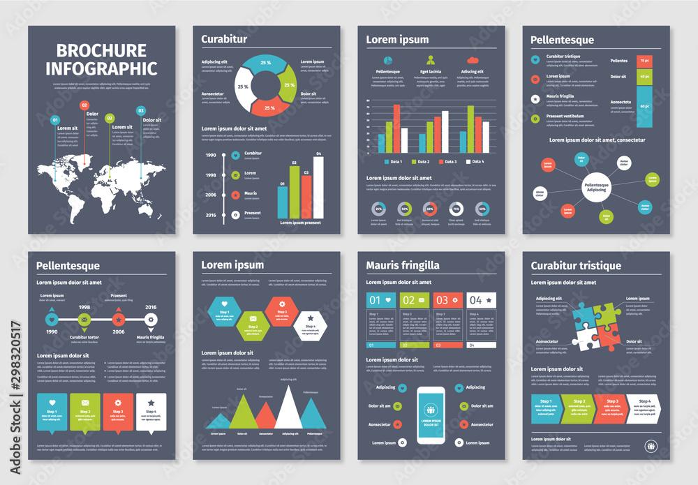 Fototapety, obrazy: Infographic Brochure