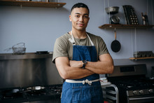 Portrait Of Handsome Male Chef...