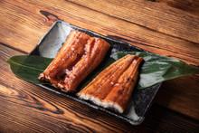Unagi, Japanese Eel On Plate