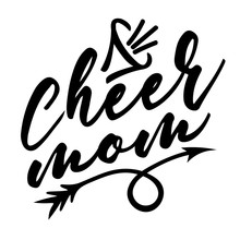 Cheer Mom Vector Design. Sport...