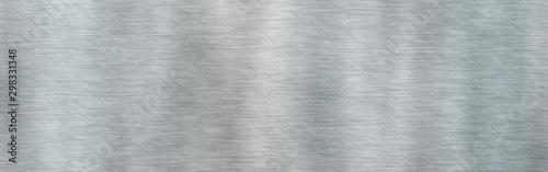 Fotomural  Brushed metal steel texture.