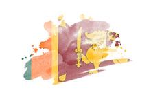 National Flag Of Sri Lanka. St...