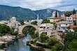 Most w Mostar, piękny krajobraz miasta, Bośnia i Hercegowina