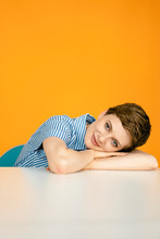 Portrait Of Woman Resting On T...