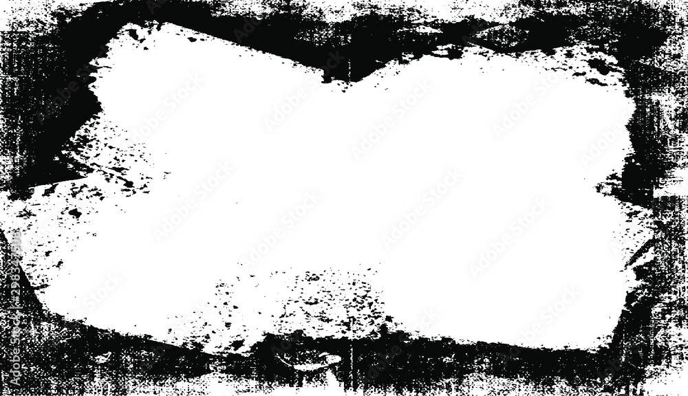 Fototapety, obrazy: Scratched Frame. Grunge Urban Background Texture Vector. Dust Overlay. Distressed Grainy Grungy Framing Effect. Distressed Backdrop Vector Illustration. EPS 10.