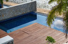 Pool And Wooden Deck At Holida...