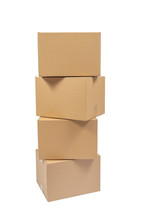 Four Stacked Cardboard Boxes I...