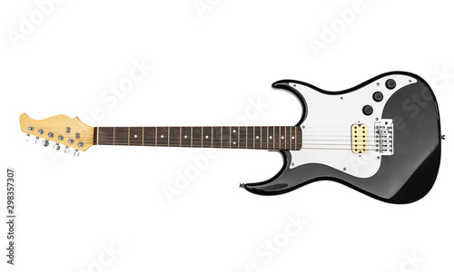 Electric guitar on a white background. - 298357307
