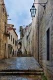 Fototapeta Miasto - wąska uliczka w Dubrownik, Chorwacja