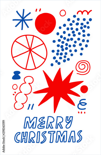 Photo  Minimalist vector illustration dedicated to Christmas and New year celebration