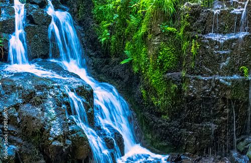 Fotografie, Obraz La Petite Cascade - The Little Waterfall of the Cance and Cancon rivers  - Le Ne