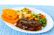 Brown Gravy Over Chopped Steak...