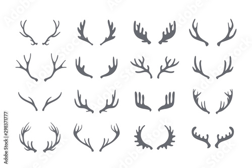 Foto Antler big set of vector icons