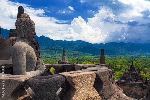 Cuadros en Lienzo  インドネシア・ボロブドゥール寺院遺跡群 8
