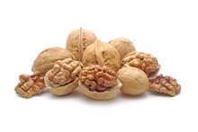 Walnuts Isolated On White Back...