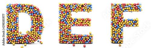 Emoji reactions letters D, E, F Wallpaper Mural