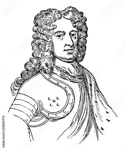 Fotografie, Obraz Duke of Marlborough, vintage illustration