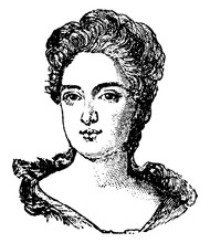 Queen Anne Of England, Vintage Illustration
