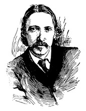Robert Louis Stevenson, Vintage Illustration
