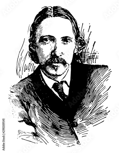 Robert Louis Stevenson, vintage illustration Fototapet