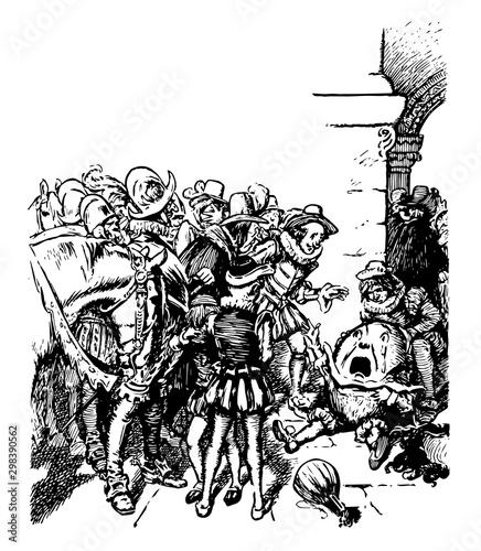 Humpty Dumpty, vintage illustration Tablou Canvas
