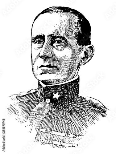 Guglielmo Marconi, vintage illustration Canvas-taulu