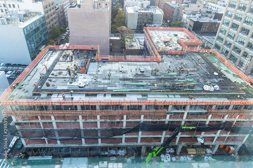 Fototapety, obrazy: aerial view of building construction