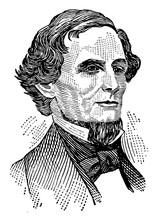 Jefferson Davis, Vintage Illus...
