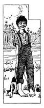 Huckleberry Finn, Vintage Illustration