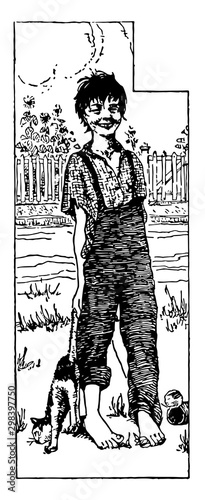 Fototapeta Huckleberry Finn, vintage illustration