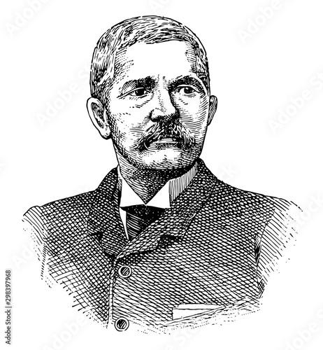 Henry M. Stanley, vintage illustration Fotomurales