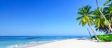 Fototapeta Fototapety z morzem do Twojej sypialni - paradise tropical beach sea on a tropical