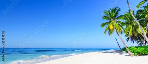 Fototapeta paradise tropical beach sea on a tropical obraz