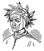 Alighieri Dante, Vintage Illustration