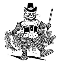 Puss In Boots, Vintage Illustration