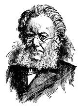 Henrik Ibsen, Vintage Illustra...