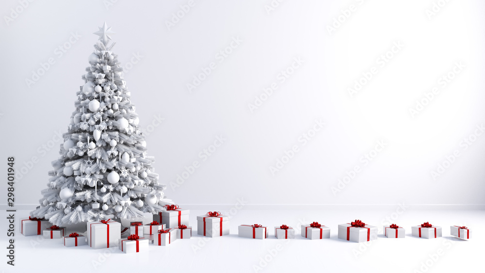 Fototapety, obrazy: Christmas Tree Background with Copy Space