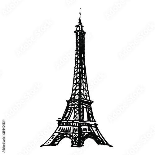 The Eiffel Tower silhouette Canvas-taulu