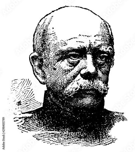 Obraz na plátne Prince Bismarck, vintage illustration