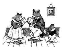 The Three Bears, Vintage Illustration